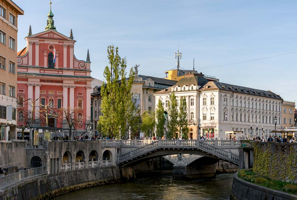 Ljubljana riverfront romantic destinations in europe