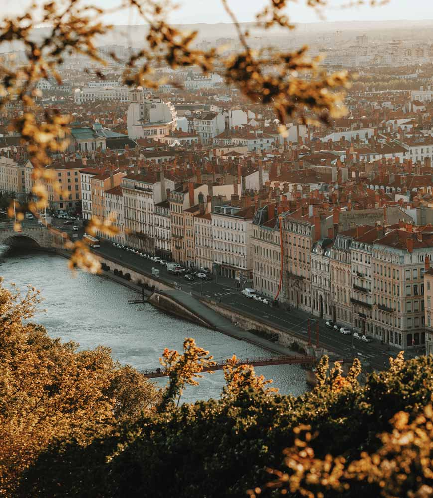 Lyon France in the autumn