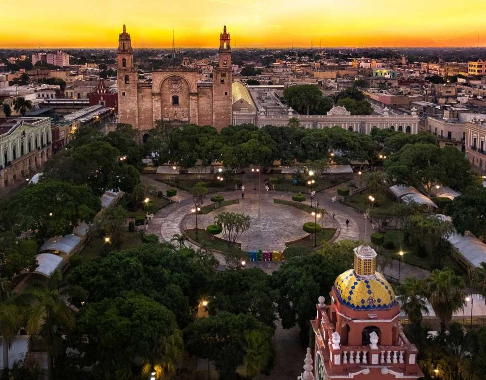 Dinner with a view in Merida Mexico