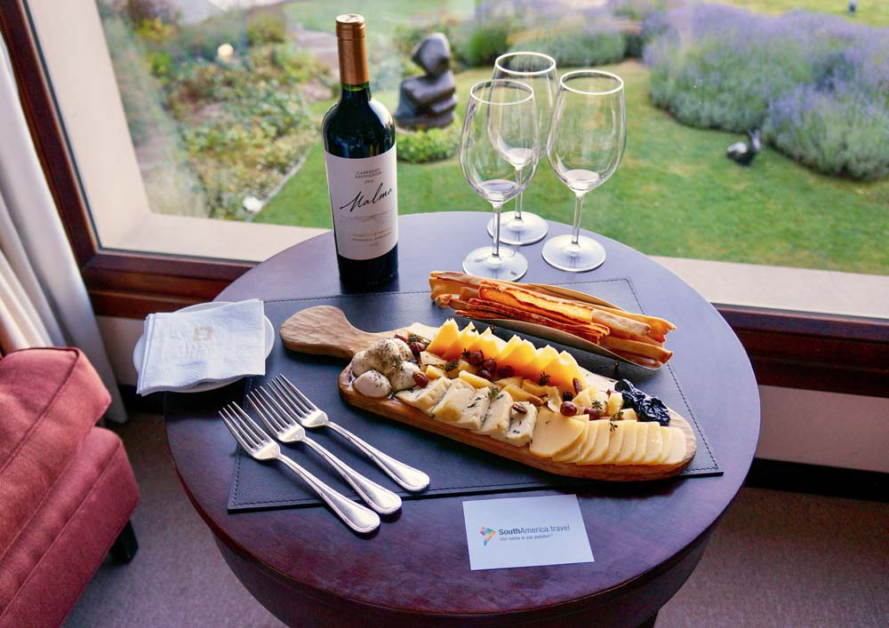 Meals and wine in Argentina