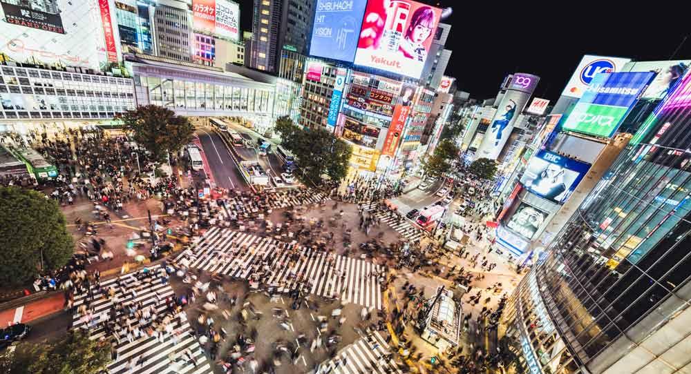 Shibuya Crossing in Japan - free things to do in Tokyo