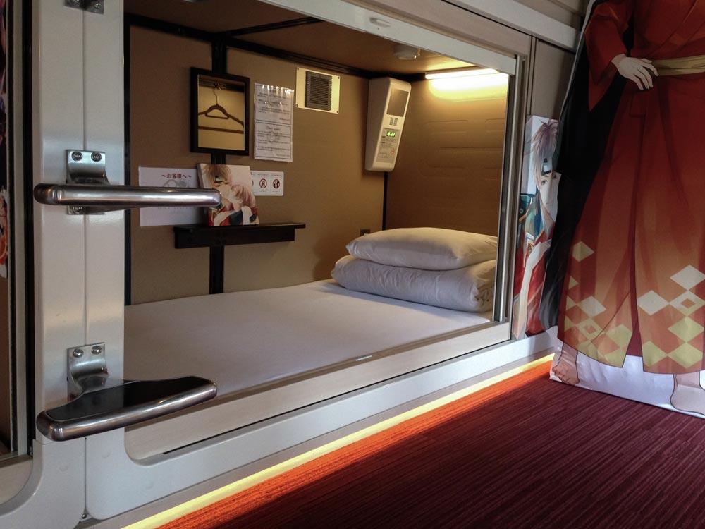 a capsule bed in Tokyo Japan