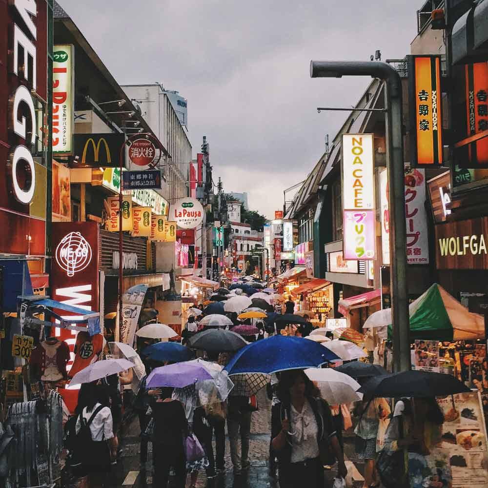 Harajuku Street in Tokyo Japan