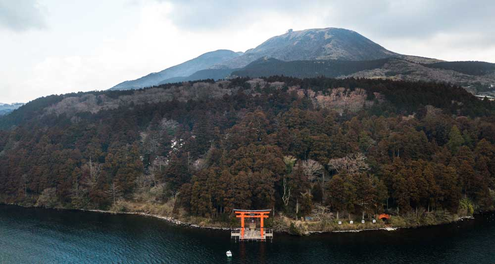 Hakone Island in Japan