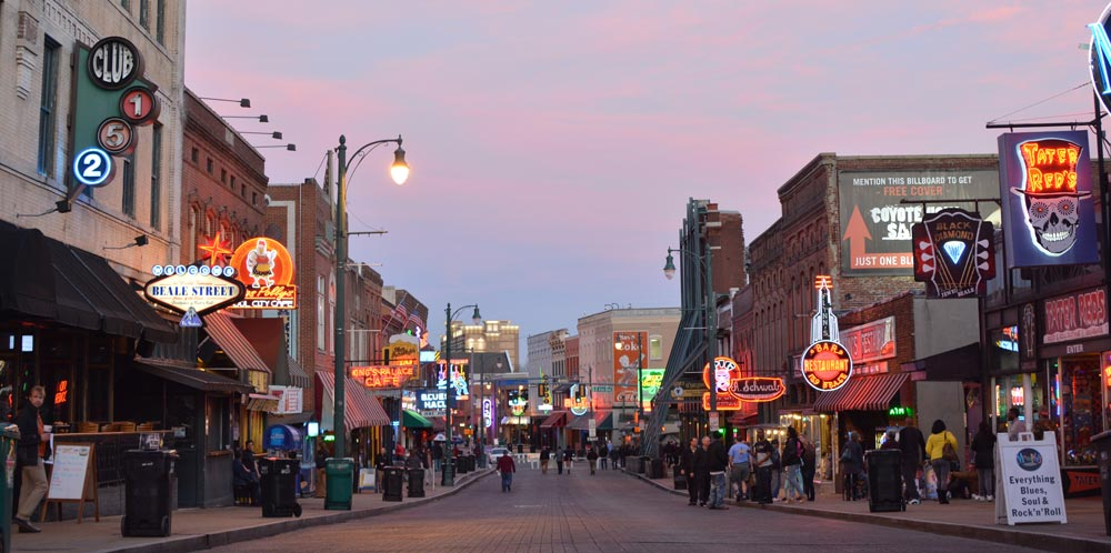 Beale Street best place to vacation in Tennessee