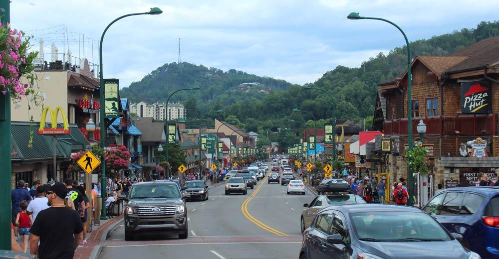 Gatlinburg town Tennessee
