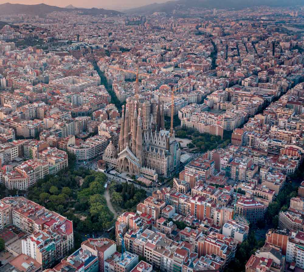 View from above Barcelona