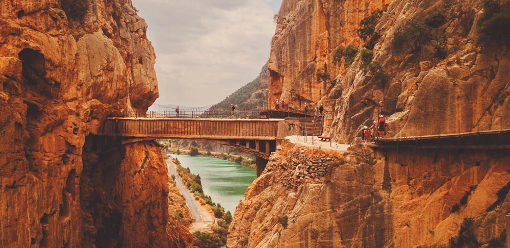malaga canyons Most beautiful cities in Spain